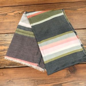 Ann Taylor Multi-Striped Shawl/Scarf